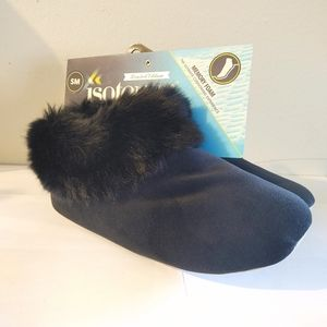 isotoner Shoes - Totes Isotoner Velour Booties Small 5-6